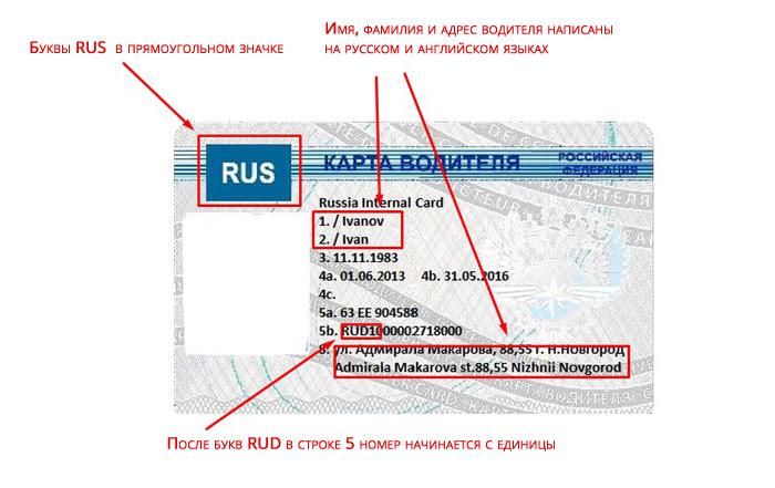 Карта водителя для тахографа