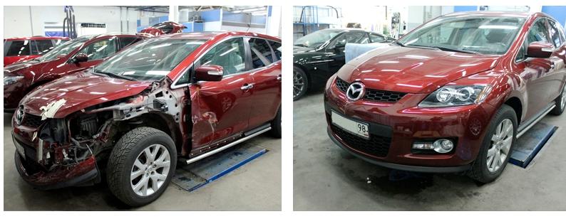 результат ремонта авто