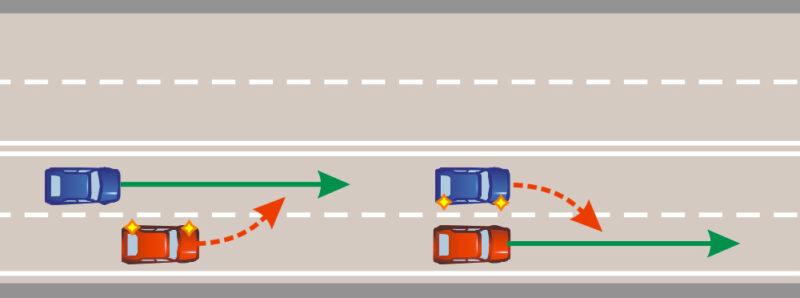 Правила маневрирования на дороге